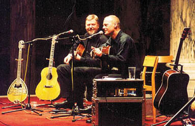 Performing with Anders Roland, 2002
