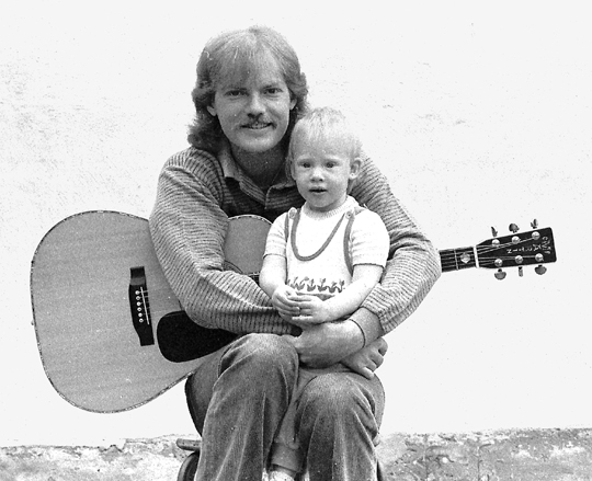 Finn with his daughter Maria - 1984